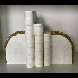 Z Gallerie Marble Books and Bookends